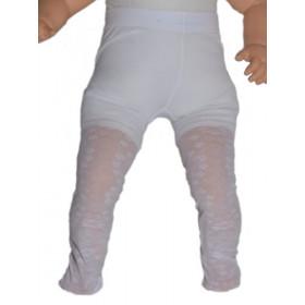 Collant blanc cérémonie bébé SELMA