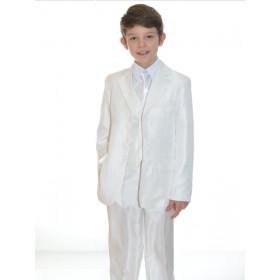 Costume enfant de cérémonie blanc 5 pièces ARNAUD