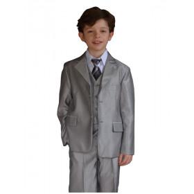 Costume garçon cérémonie gris clair CÉSAR