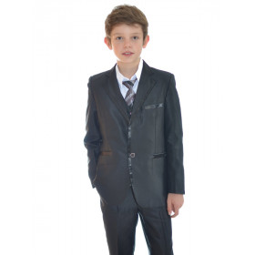 Costume garçon pour cortège noir MARCO