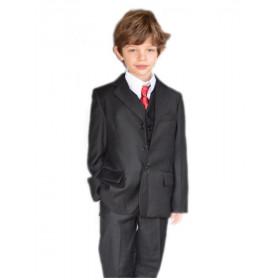 Costume garçon de cérémonie noir uni ARTHUR