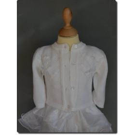 Gilet blanc pour baptême bébé fille