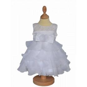 Robe de bâpteme fille blanche VICTORIA