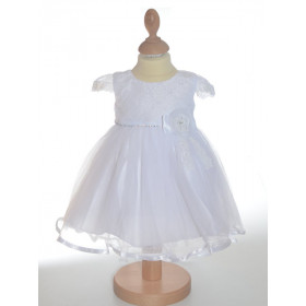 Robe de ceremonie blanche avec traîne IRINA