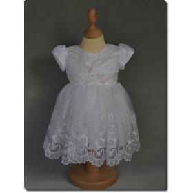Robe de bâpteme blanche fille SOPHIE