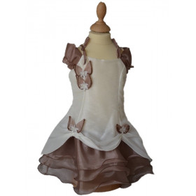 Robe mariage fille ivoire choco PAULINE