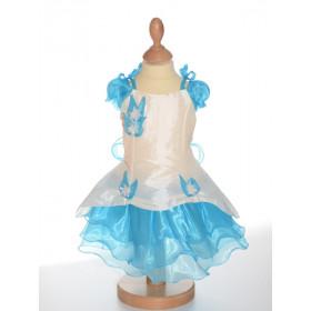Robe de cérémonie bébé fille turquoise BLANDINE