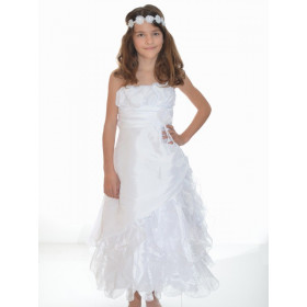 Robe de communion blanche fille CANDICE