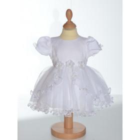 Robe blanche de baptême fille  Emilie