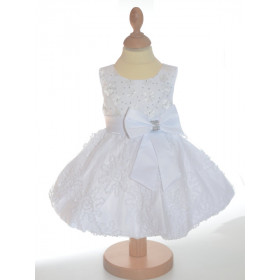 Robe de cérémonie bébé blanche JULIETTE