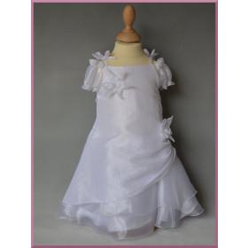 Robe de cérémonie fleurs blanche bébé fille LOUNA
