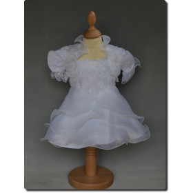 Robe de cérémonie fille blanche avec boléro LOLA