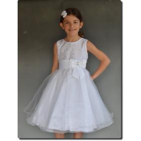 Robe pour cérémonie fille blanche ELEN