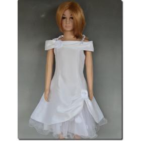 Robe cérémonie fille pétales blanche ROMANE