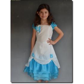 Robe de cérémonie fille turquoise BLANDINE