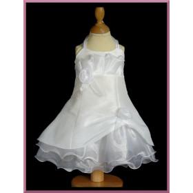 Robe de cérémonie blanche bébé fille ILONA