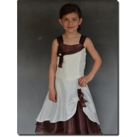 Robe mariage fille ivoire et choco ALEXANDRA
