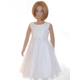 Robe ceremonie fille blanche SALOMÉ