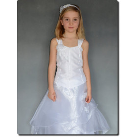 Robe de cérémonie fille bustier blanche ANAIS