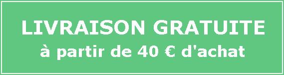 Livraison gratuite des 40 euros d'achat